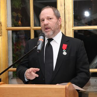 Producer Harvey Weinstein attends a reception for the screening of