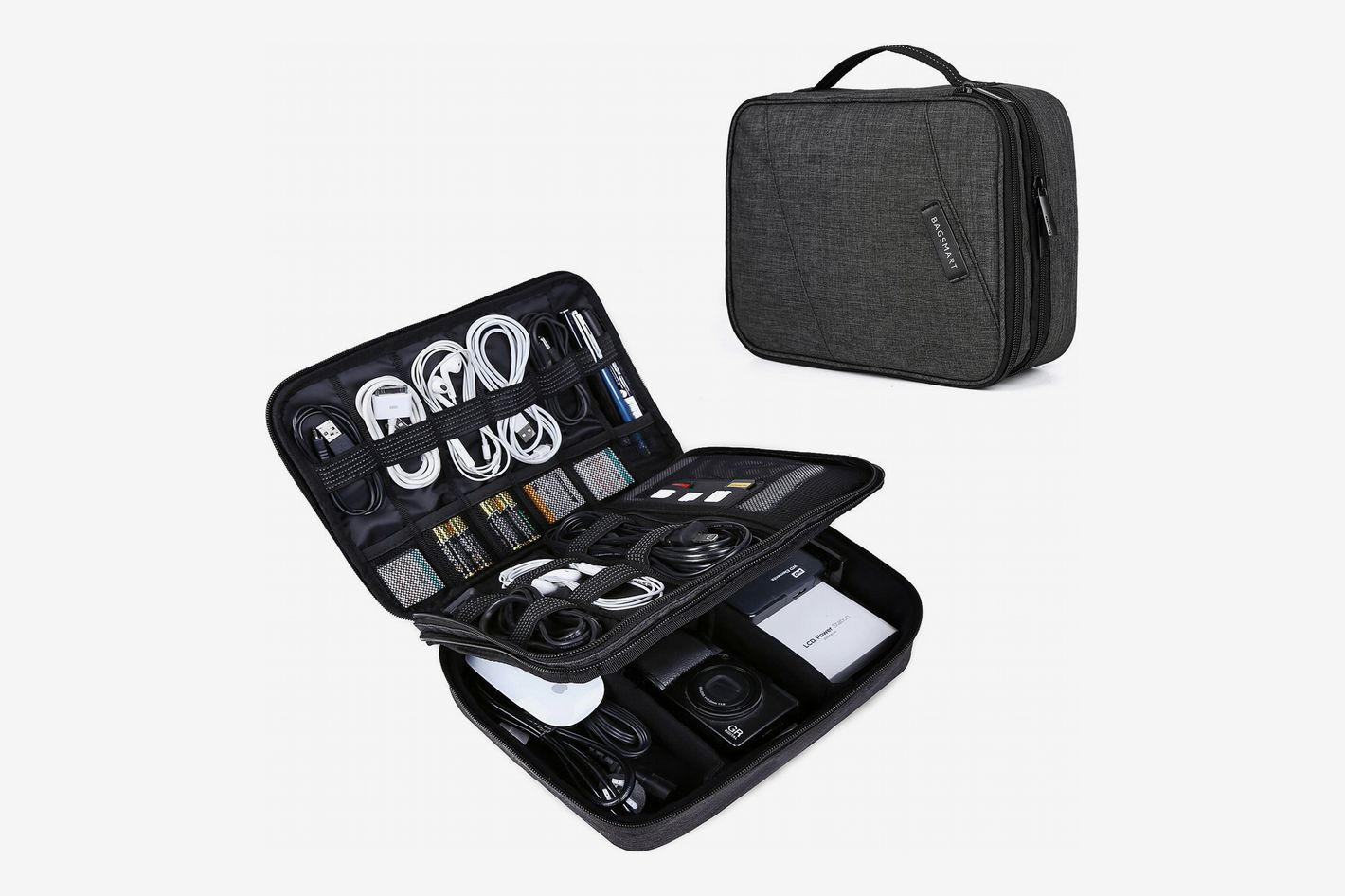 BAGSMART Double-Layer Cable Organizer Bag