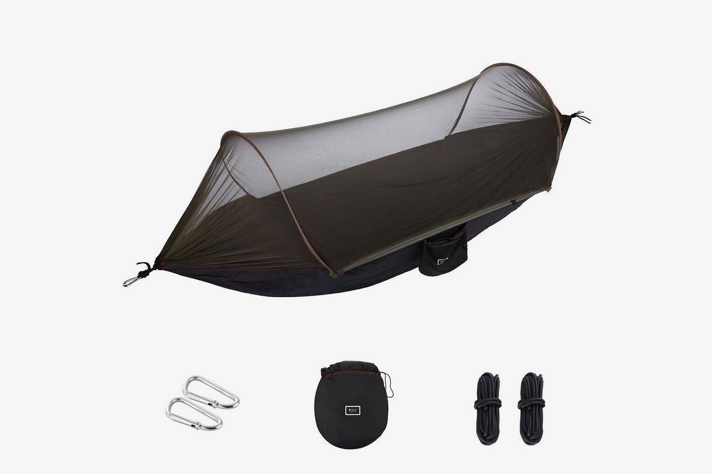 isYoung Hammock With Mosquito Net Parachute Fabric Hammock Net