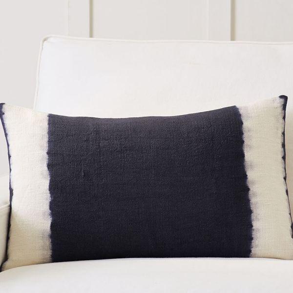 Pottery Barn Hand-Dip-Dyed Lumbar-Pillow Cover