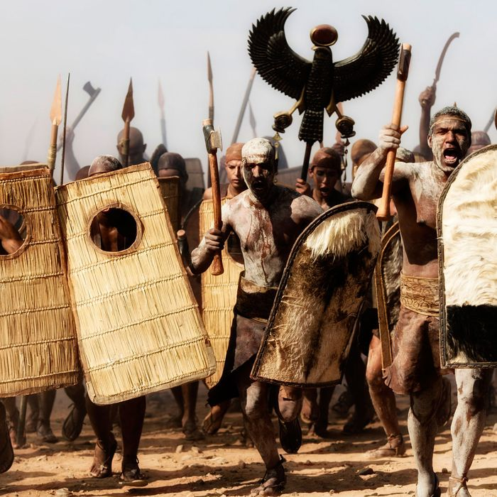 Exterior Meggido Battelfield 1457 BC - The infantry charge. Hand to hand combat.