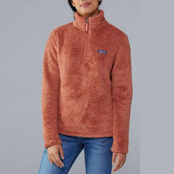 candied orange patagonia womens quarter zip fleece - strategist rei winter sale