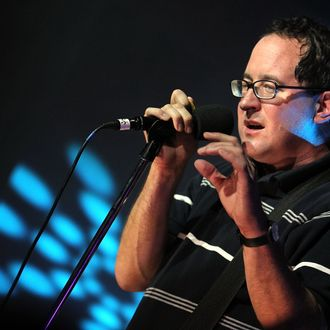 CULVER CITY, CA - AUGUST 28: Musician Graig Finn of The Hold Steady performs onstage at the Heineken Inspire event at the BookBindery Building on August 28, 2010 in Culver City, California. (Photo by Christopher Polk/Getty Images for Heineken)
