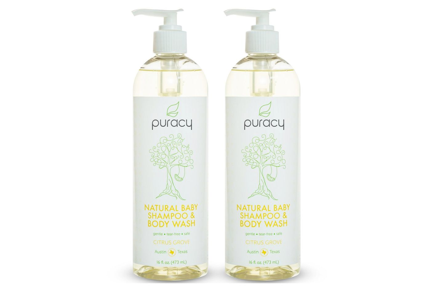 Puracy Natural Baby Shampoo & Body Wash, 2-Pack
