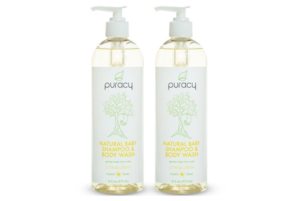 Puracy Natural Baby Shampoo and Body Wash, 16 Ounces (2 Pack)