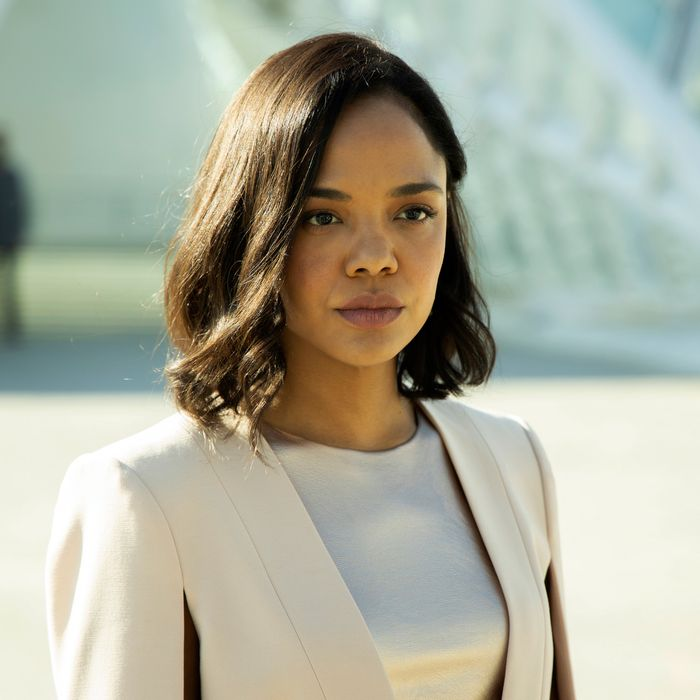 Tessa Thompson as Charlotte Hale in Westworld.