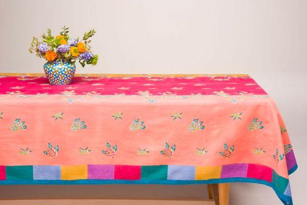 Lisa Corti Mango Peach Indigo Muslin Cloth