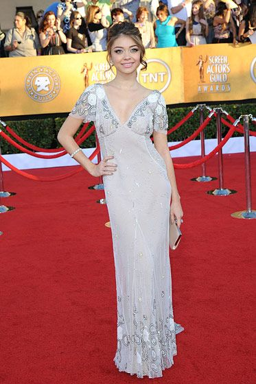 Sarah Hyland==18th Annual Screen Actors Guild Awards==Shrine Auditorium, Los Angeles, CA==January 29, 2012==?Patrick McMullan==Photo - ANDREAS BRANCH/PatrickMcMullan.com====