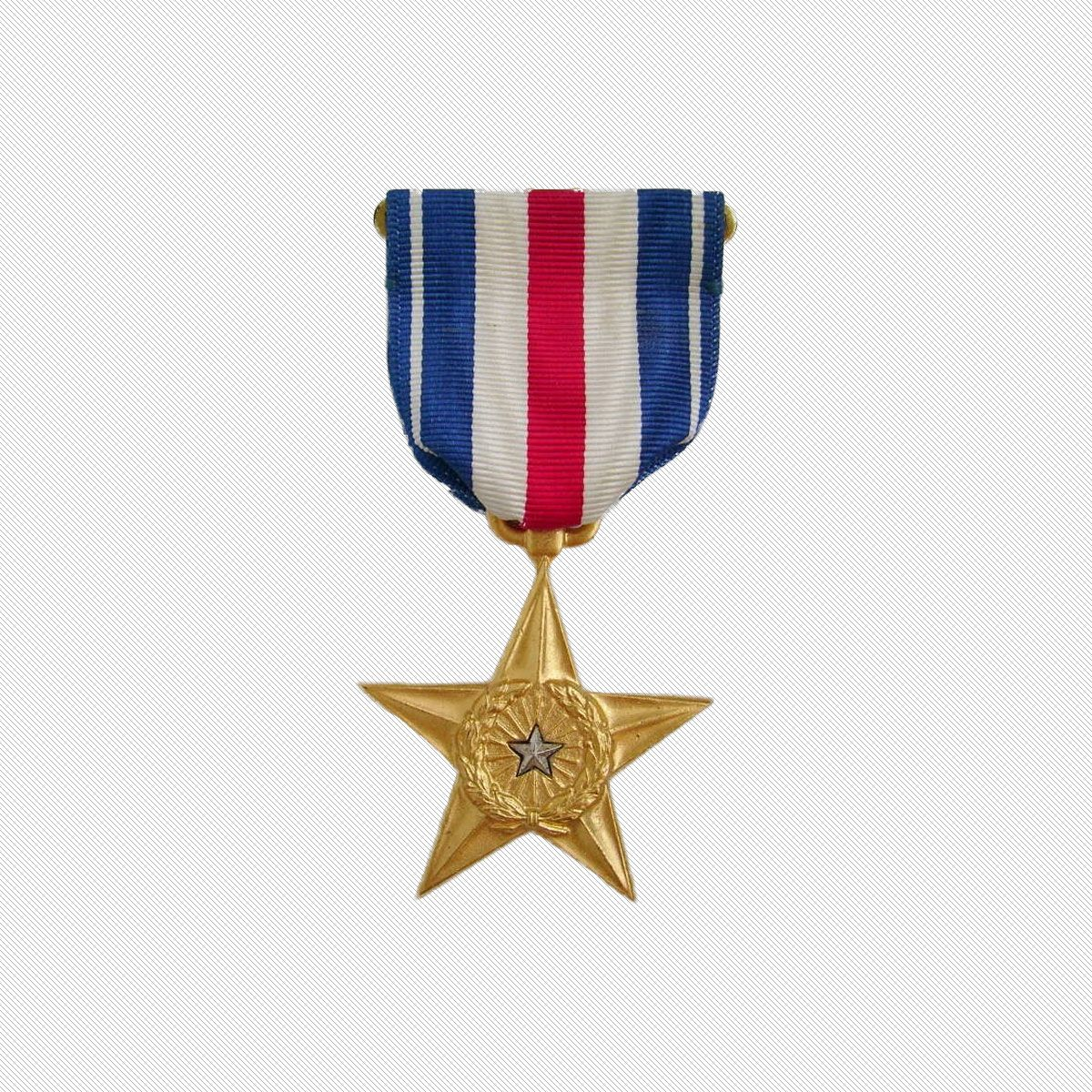 Ww2 Era Silver Star Military Medal For Gallantry In Action