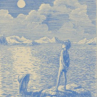 This children's book illustration shows a scene from the Peter Pan book by J.M. Barrie, published in 1911.
