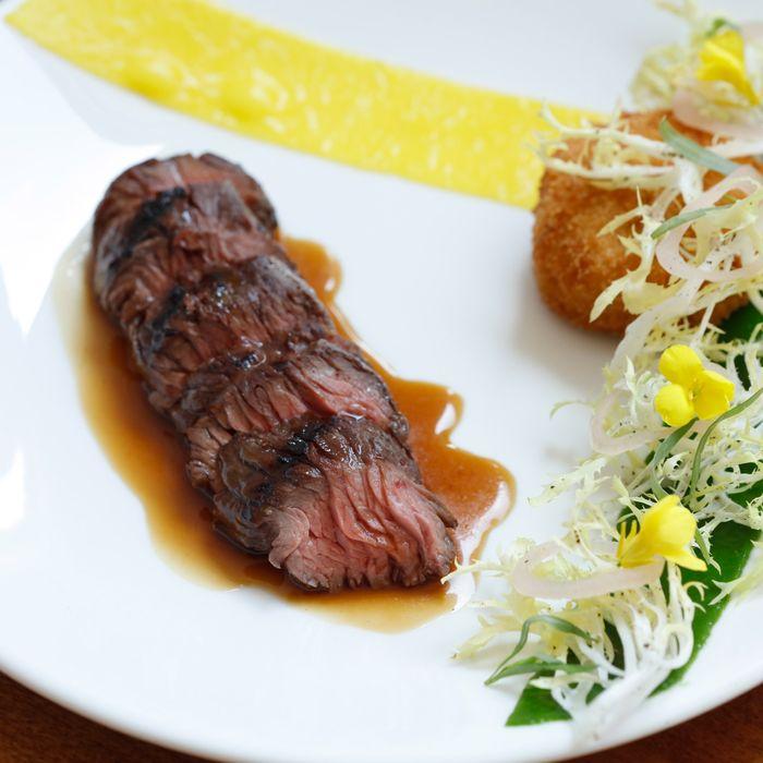 N.Y. grass-fed steak with potato