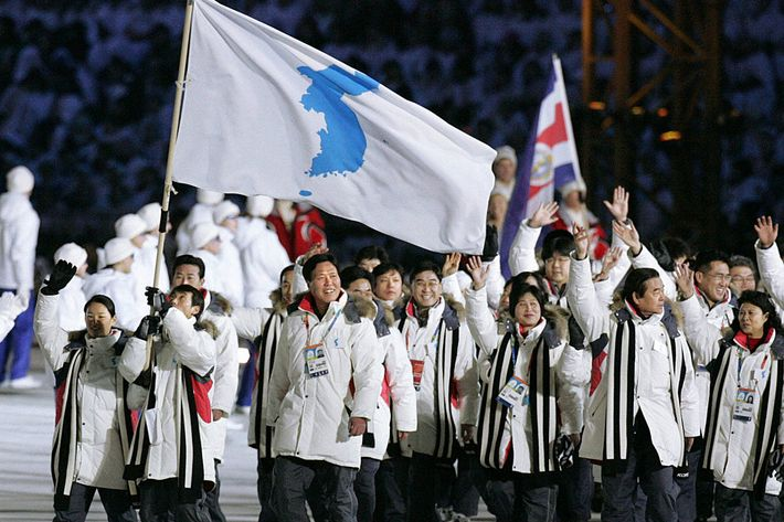 Image result for North and South Korea will march under a single flag