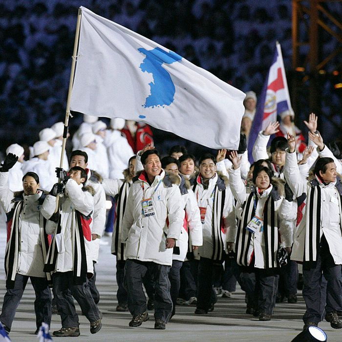north south korea to march under one flag at 2018 olympics