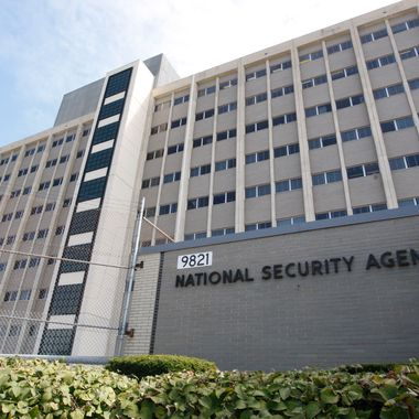 FILE - This Sept. 19, 2007, file photo, shows the National Security Agency building at Fort Meade, Md.  The government is secretly collecting the telephone records of millions of U.S. customers of Verizon under a top-secret court order, according to the Sen. Dianne Feinstein, D-Cailf., chairwoman of the Senate Intelligence Committee. The Obama administration is defending the National Security Agency's need to collect such records, but critics are calling it a huge over-reach. (AP Photo/Charles Dharapak, File)