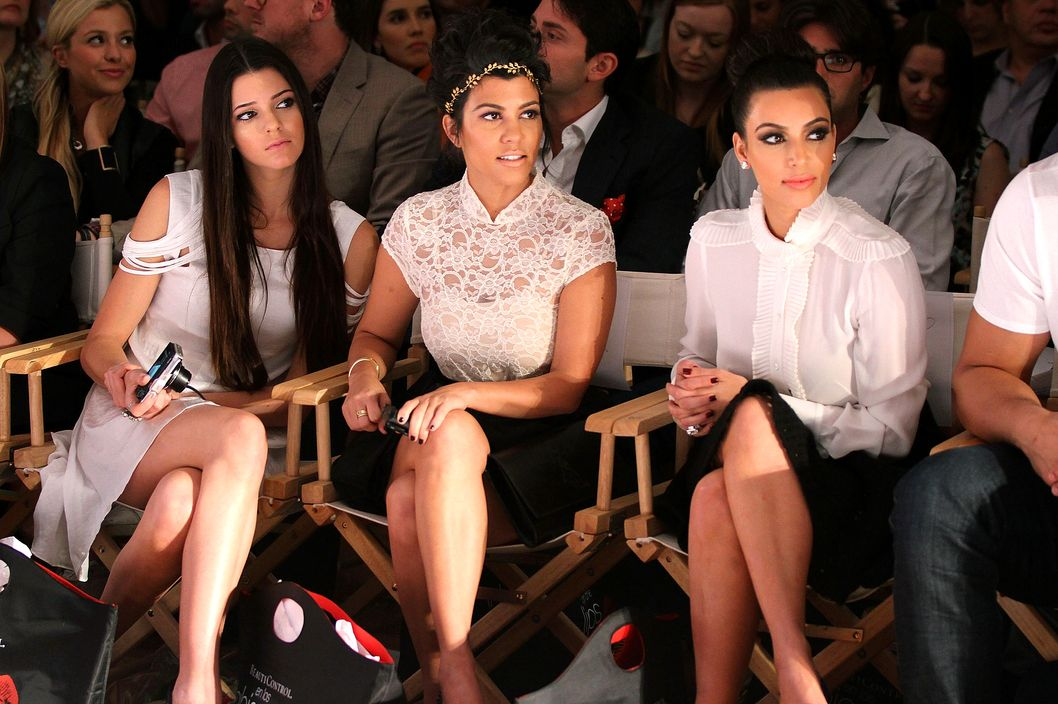 NEW YORK, NY - SEPTEMBER 12: (L-R)  Kendall Jenner, Kourtney Kardashian and Kim Kardashian attends the Abbey Dawn by Avril Lavigne Spring 2012 fashion show during Style360 at the Metropolitan Pavilion on September 12, 2011 in New York City.  (Photo by Jerritt Clark/Getty Images)