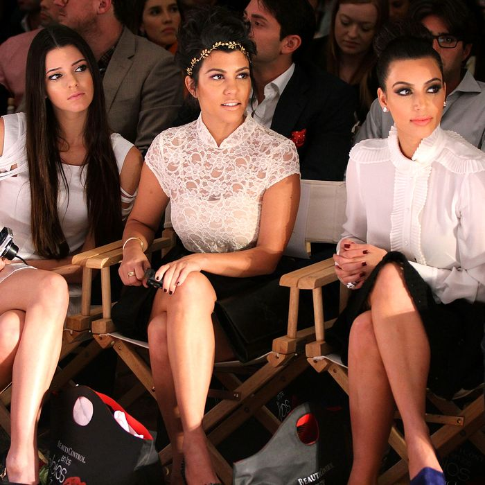 Kardashians flanked the front row at Abbey Dawn.