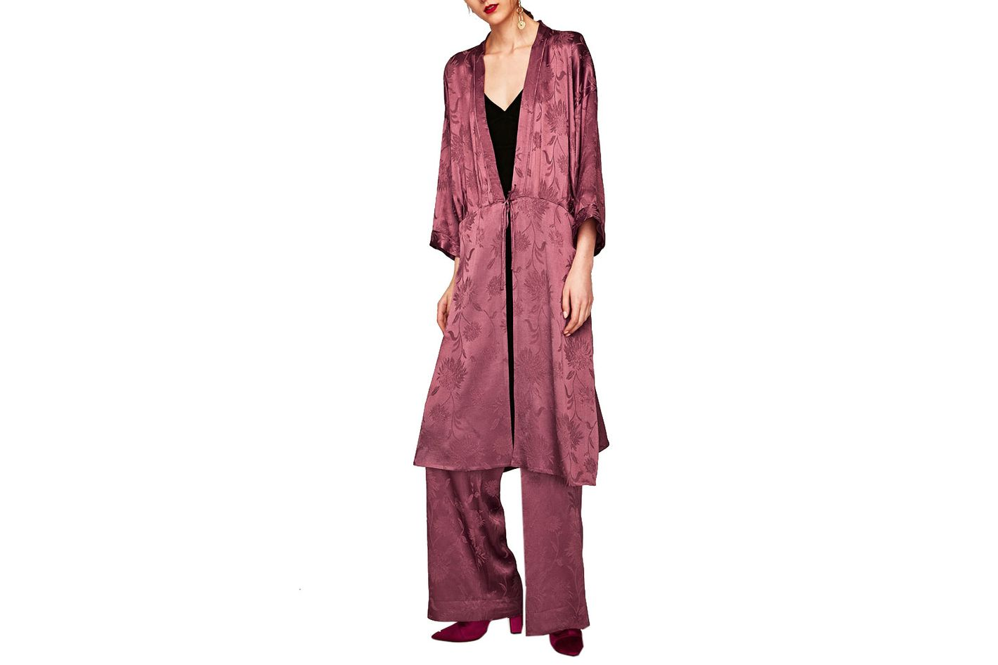 Shimmery Jacquard Robe