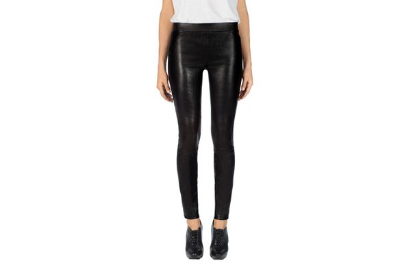 L8007 Edita Mid Rise Leather Legging