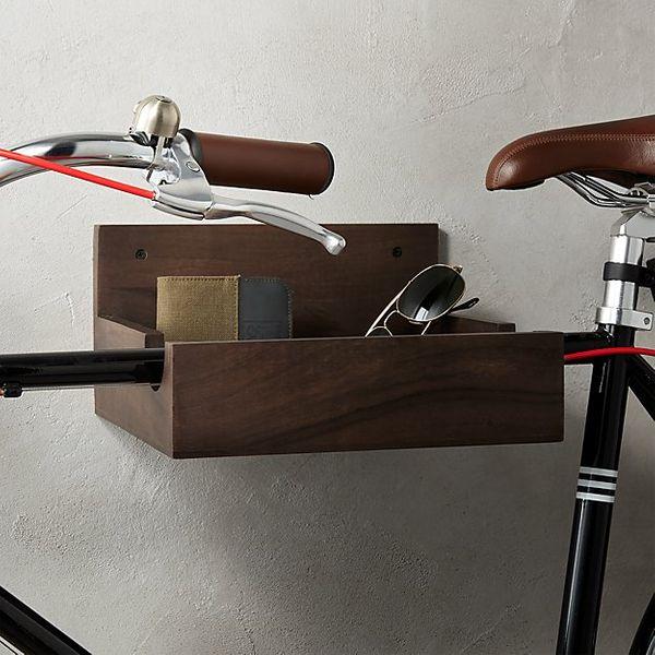 CB2 Wood Bike Storage