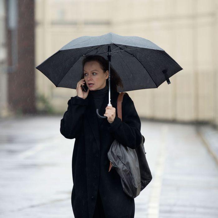 Samantha Morton as Naomi - The Last Panthers _ Season 1, Episode 2 - Photo Credit: Stephane Remael/Sundance