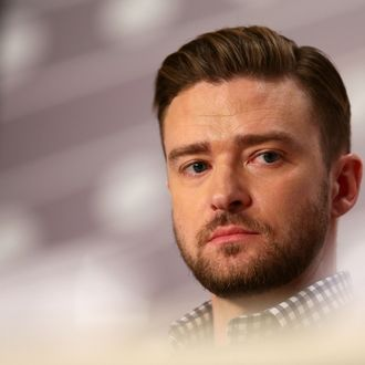Actor Justin Timberlake attends the 'Inside Llewyn Davis' Press Conference during The 66th Annual Cannes Film Festival at Palais des Festivals on May 19, 2013 in Cannes, France.