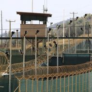 File photo of the exterior of Camp Delta at the U.S. Naval Base at Guantanamo Bay