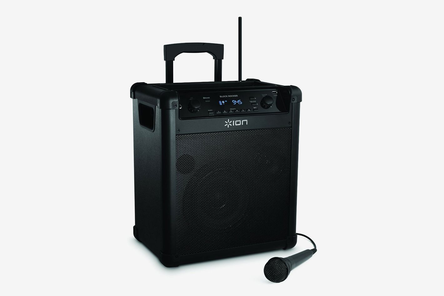ION Audio Block Rocker Portable Bluetooth Speaker With Mic, Radio, and Wheels & Handle