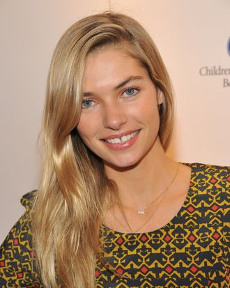 NEW YORK, NY - APRIL 04: Jessica Hart attends Shoe & Tell for Children's Hospital Boston hosted by Jane & Stuart Weitzman at Stuart Weitzman Showroom on April 4, 2012 in New York City. (Photo by Theo Wargo/WireImage for CHB)