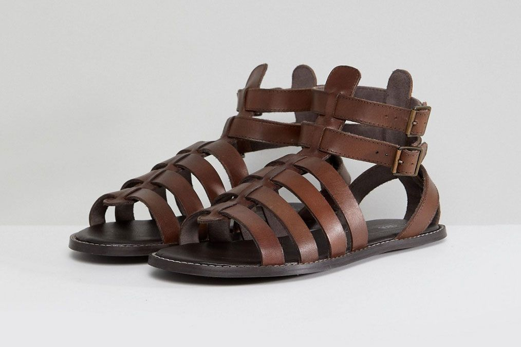 ASOS DESIGN Gladiator Sandals In Leather