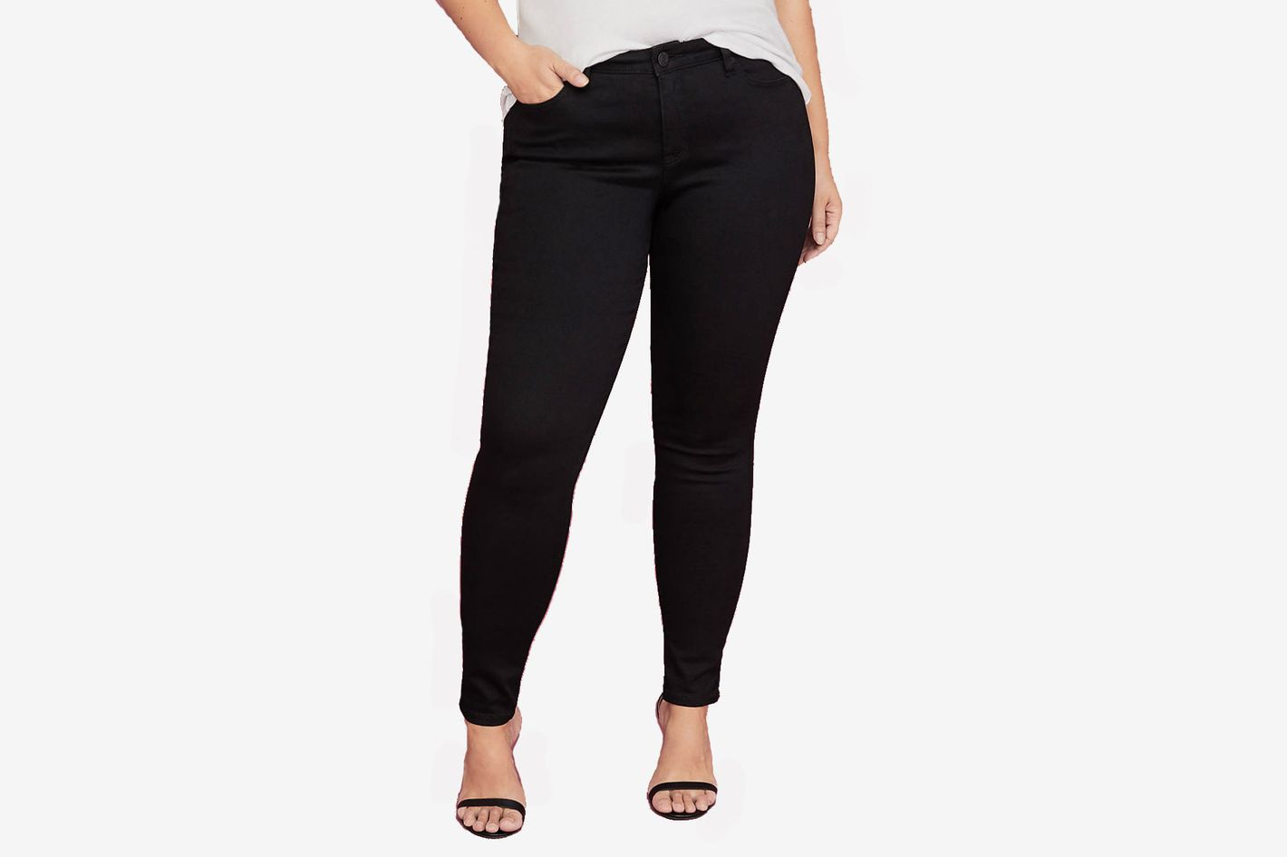 0fd8bbfc426a Best shape-retaining plus-size jeans. Lane Bryant Super Stretch Skinny  Ankle Jeans with Power Pockets