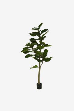 5' Faux Fiddle Leaf Tree in Starter Pot by Valerie