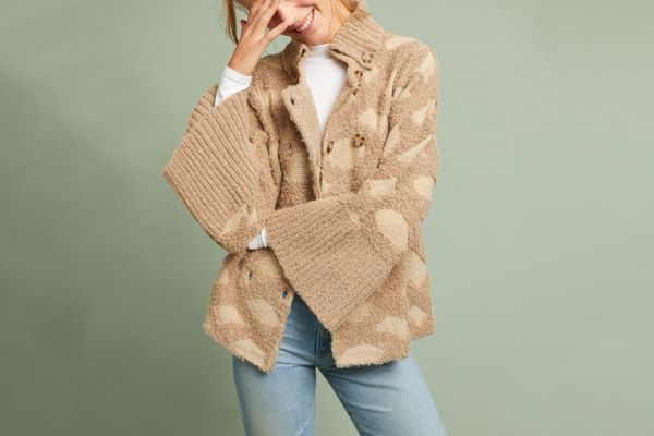 Intarsia Spotted Cardigan