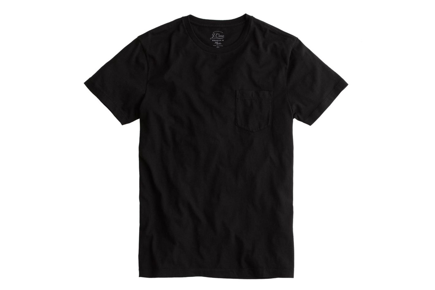 Black t shirt white collar - Share
