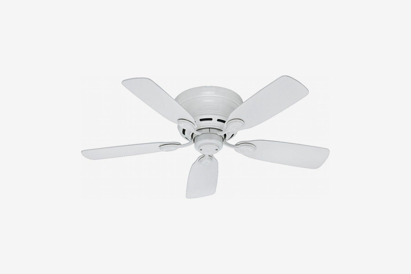 Hunter Fans 51059 Low Profile 5-Blade Ceiling Fan, White, 42-Inch