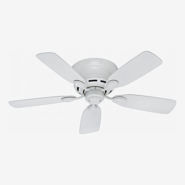 Hunter Fans Low Profile 5-Blade Ceiling Fan, White, 42-Inch