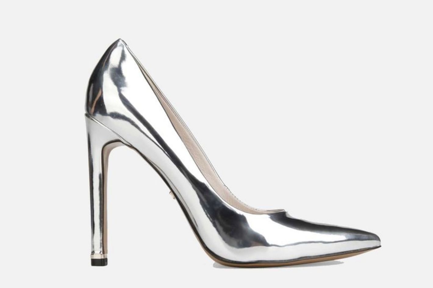 Riley 110 Metallic Leather Stiletto Heel
