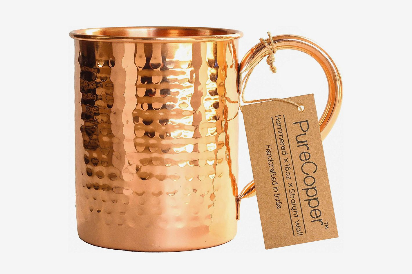 PureCopper Copper Mug for Moscow Mule