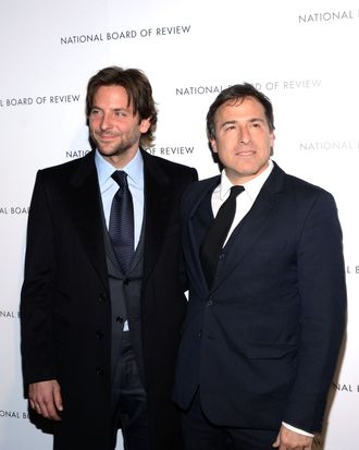 Actor Bradley Cooper and Director David O. Russell attend the 2013 National Board Of Review Awards at Cipriani 42nd Street on January 8, 2013 in New York City.
