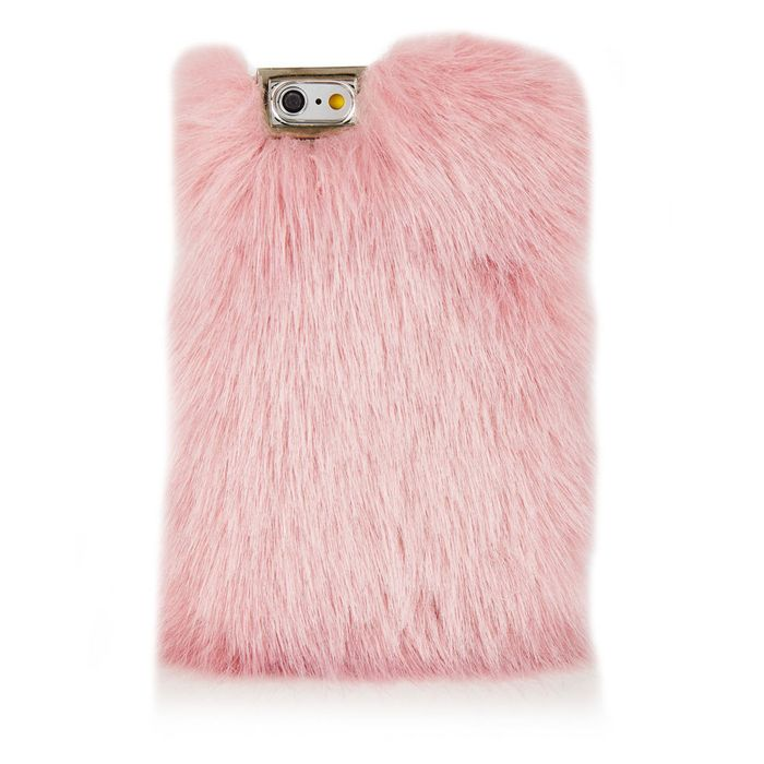 super popular 1cc4f 63b4c A Pink 'Faux'-Fur Phone Case From Skinny Dip