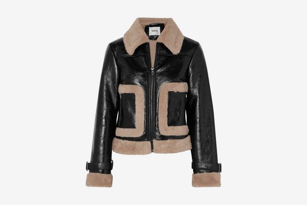 Stand Faux Shearling Jacket