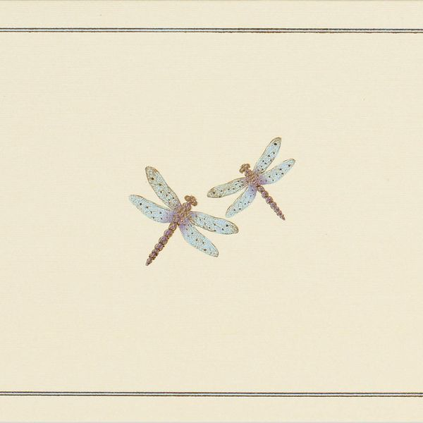 Blue Dragonflies Note Cards