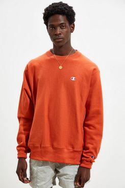 Champion Reverse-Weave Fleece Crew-Neck Sweatshirt