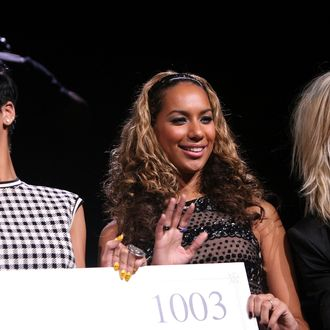NEW YORK - DECEMBER 12: (L-R) Singers Rihanna, Leona Lewis and Natasha Bedingfield on stage during Z100's Jingle Ball at Madison Square Garden on December 12, 2008 in New York City. (Photo by Scott Gries/Getty Images) *** Local Caption *** Rihanna;Leona Lewis;Natasha Bedingfield