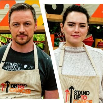Current obsession: McAvoy and Ridley in their Bake Off aprons.