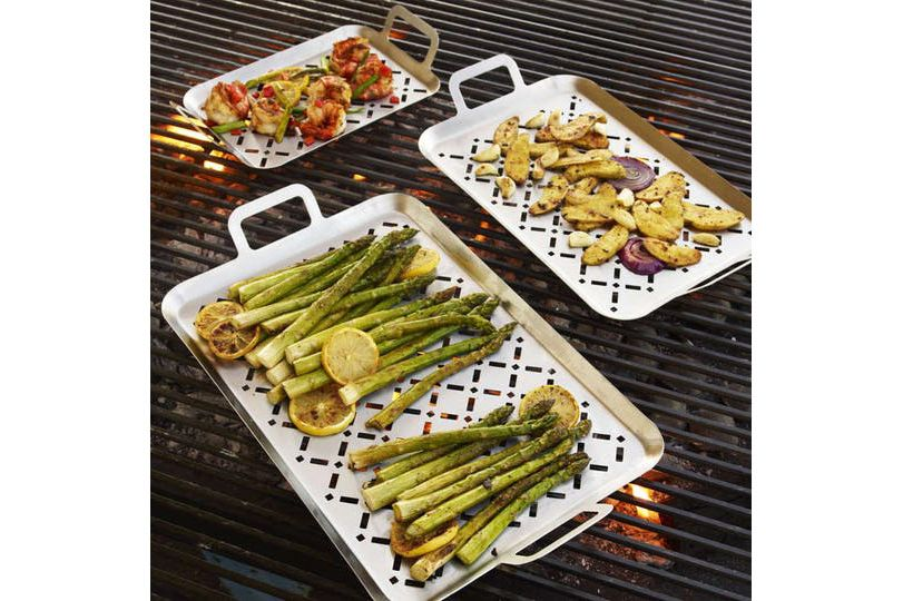 Sur La Table Stainless Steel Grill Grids, Set of 3
