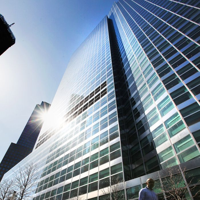 A man walks past Goldman Sachs headquarters on March 14, 2012 in New York City. Former Goldman Sachs executive director Greg Smith wrote a scathing editorial about the company while resigning in today's New York Times.