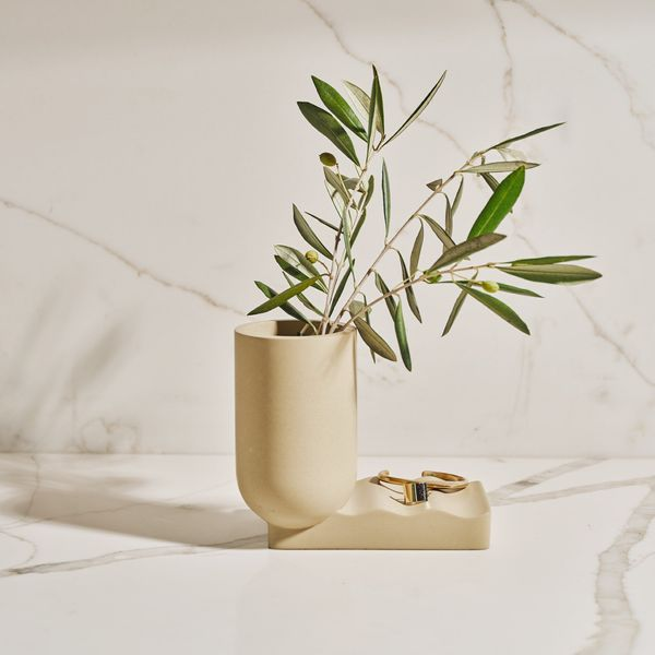Wave Concrete Vase x Tan France