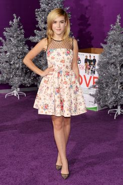 "Actress Kiernan Shipka attends the premiere of Open Road Films' ""Justin Bieber's Believe"" at Regal Cinemas L.A. Live on December 18, 2013 in Los Angeles, California."