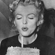 Actress Marylin Monroe On Her 30Tiest Birthday. Photograph. 1956.