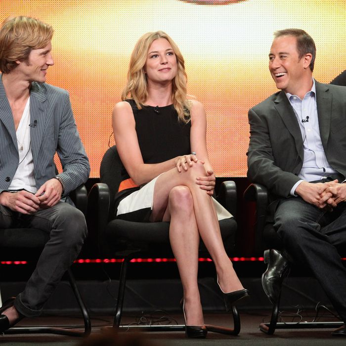 Actors Gabriel Mann, Emily VanCamp and Creator/Executive Producer Mike Kelley of the television show